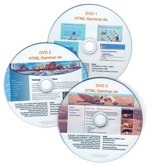 Webmaster Tutorial als Videos auf DVD